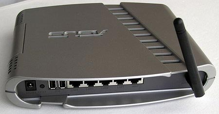 Asus WL-500g Deluxe wireless router with 2 USB ports